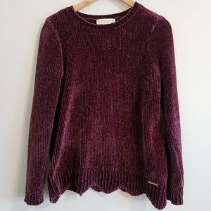 {Michael Kors} Scalloped Sweater Pullover